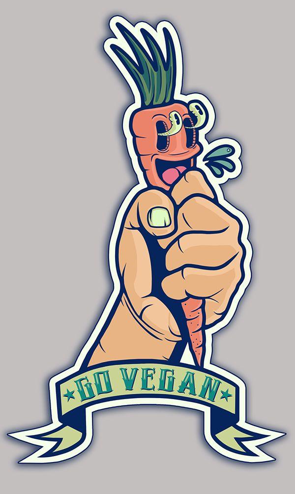 Go Vegan Sticker (5) on Behance