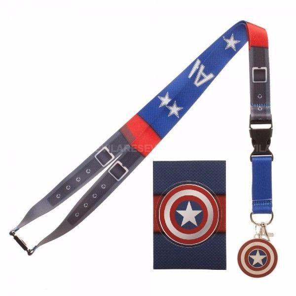 Marvel Captain America Suit Up Lanyard