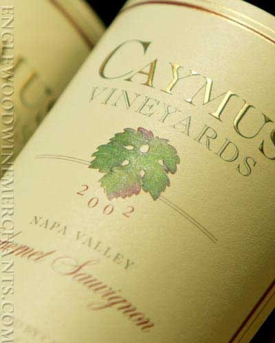 Caymus Vineyards 2002 Cabernet Sauvignon wine available at Johnnie Ganem's in Savannah, GA for $89.99. Other Vintages also available.