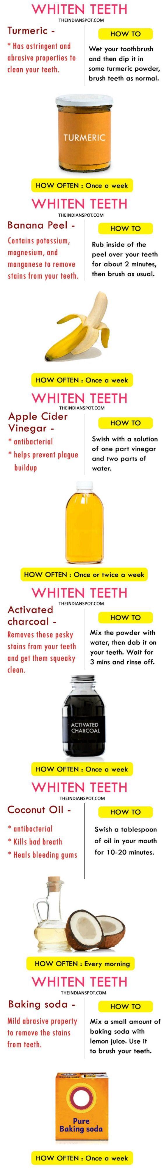 Whiten teeth naturally