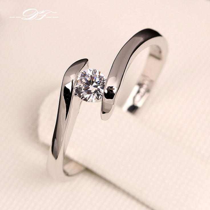 AAA + מעוקב Zirconia טבעות אירוסין זהב לבן מצופה תכשיטי חתונה טבעת מותג אופנה לגברים ונשים הסיטוניים DFR198