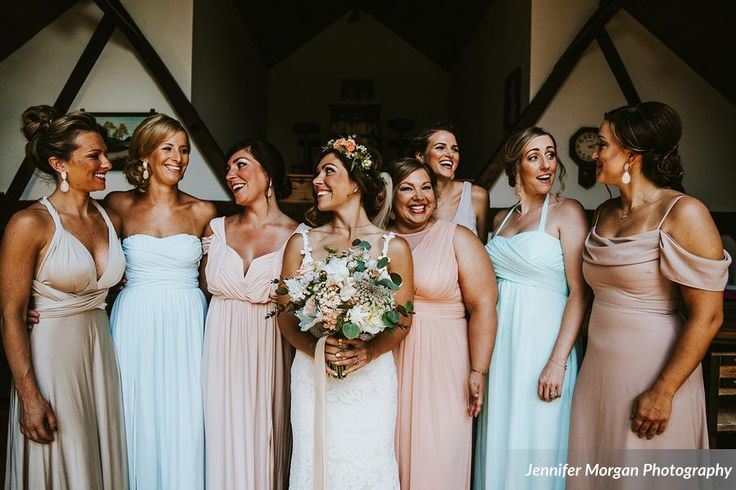 All makeup done by Robbie Banks with the exception of bridesmaid on far right. Photo credit: Jennifer Morgan Photography