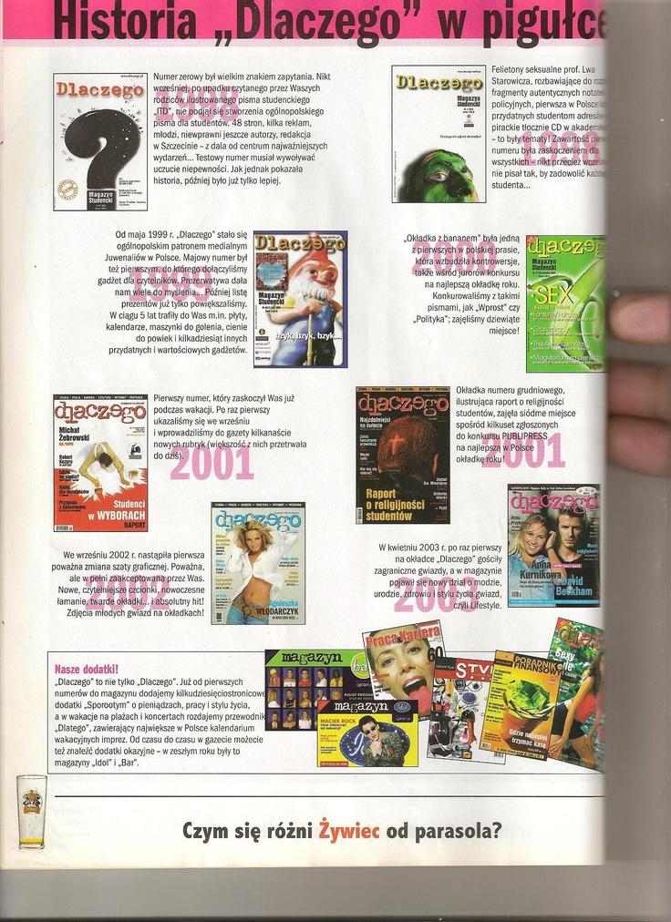 Historia magazynu studenckiego, który tworzyłem od pierwszego numeru i bodajże od trzeciego jako sekretarz redakcji.