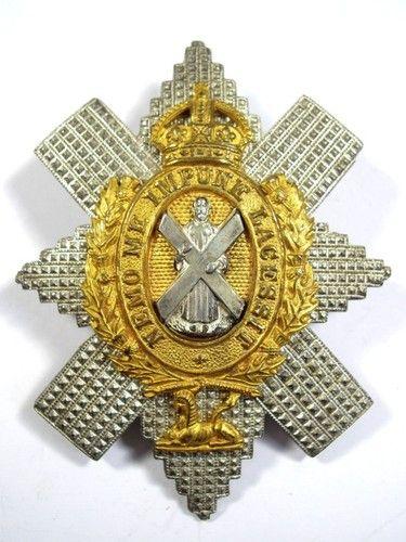 Black Watch (Royal Highlanders) original Officers Glengarry Badge.Military Badges, Glengarry Badges, Watches Royal, Black Watches