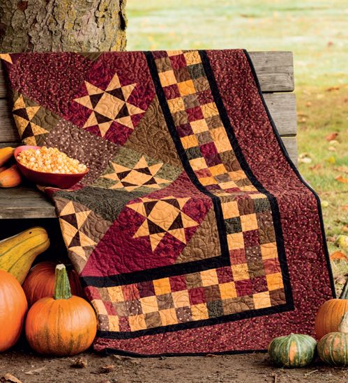 """From 'Tis the Autumn Season by Jeanne Large and Shelley Wicks: """"Jo's Jammies"""" quilt"""
