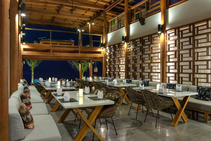 Lombok Hotel Photography - Jeeva Santai - evening restaurant views