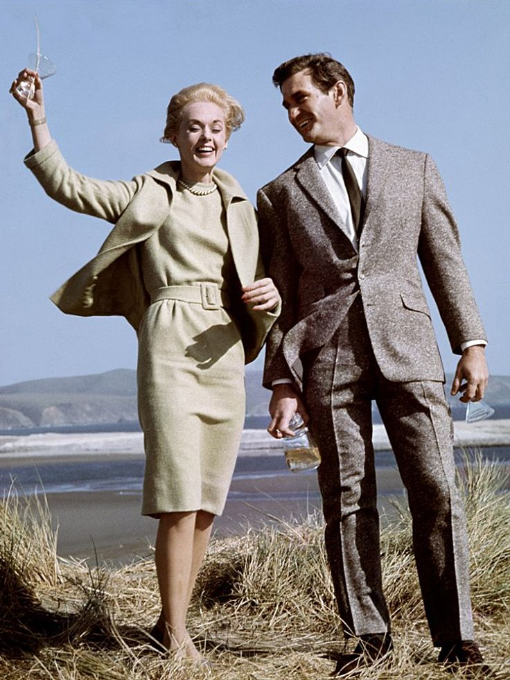 "Tippi Hedren with Rod Taylor in ""The Birds"" (1963)"