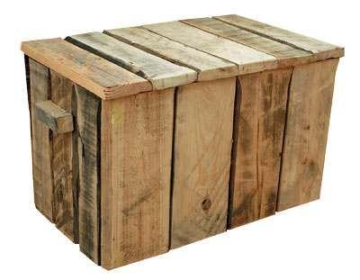 Kist maken met pallethout, een stoere dekenkist.