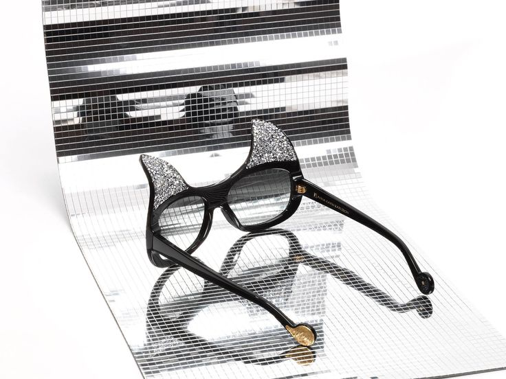 """If every kind of cat inspires you, DO NOT miss these special and unique sunglasses from Anna Karin Karlsson: """"When Trouble came to Town"""", available in store and online."""