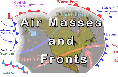 Air Masses and Fronts: online meteorology guide
