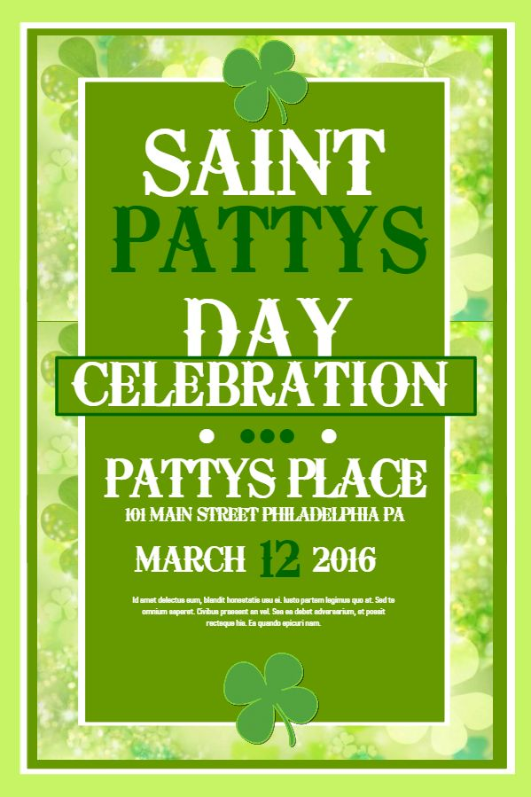 40 best St Patrick\u0027s Day Poster Templates images on Pinterest