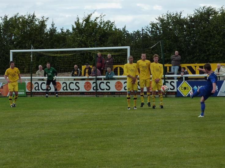 Leamington 3 Kidderminster Harriers 0. Pre-season friendly. 16th July 2011.