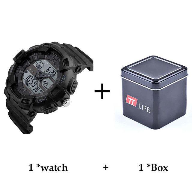 TTLIFE Sport Watch Dual Time Digital Watch Men Digital Chronograph Waterproof Mens Watch LED Military Male Clock Relojes Hombre