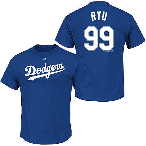 check out edc8a 2e11f Los Angeles Dodgers Hyun-Jin Ryu Name & Number T-Shirt by ...