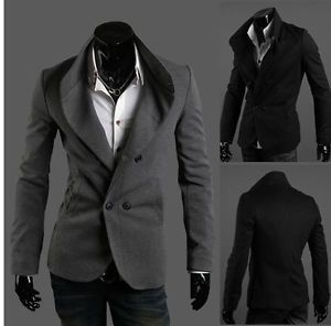MEN Double Breasted Stand UP Collar Blazer Slim FIT Cute Suit Jackets X13 | eBay