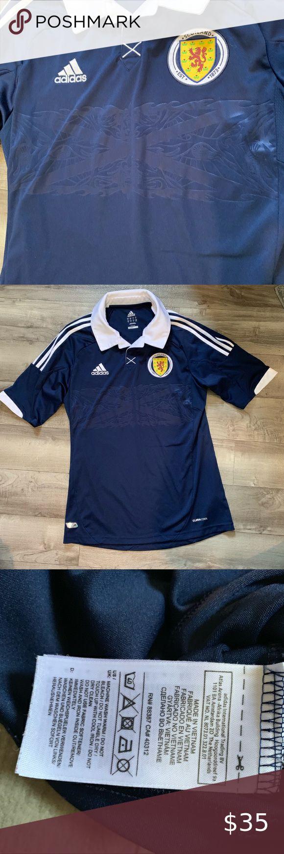 Adidas climacool Scotland Football Polo   Indigo colour, Adidas ...