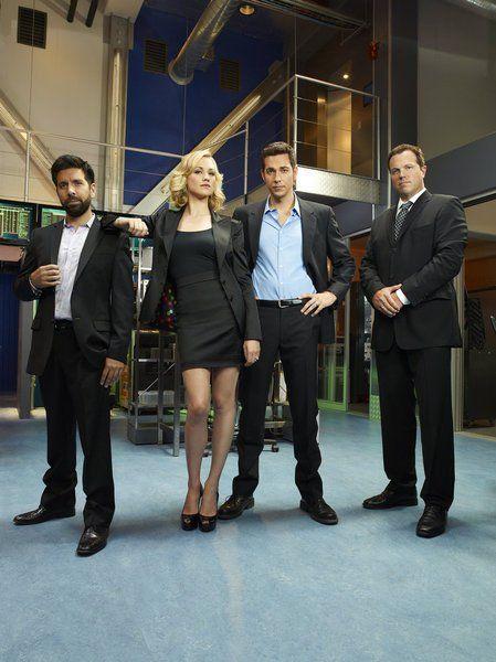 Still of Adam Baldwin, Zachary Levi and Yvonne Strahovski in Chuck