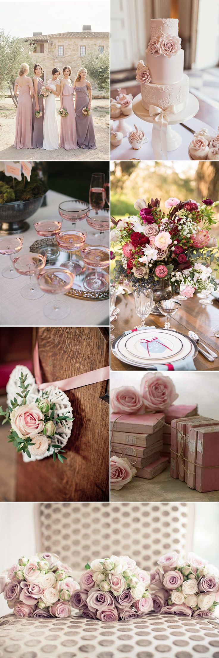 Roses are always an incredibly popular flower for weddings and with good reason. They're delicate, beautiful and always seem special.They come in so many colors and shades but it's the antique rose with its dusky charms and vintage vibe is the perfect choice for your whole wedding theme...