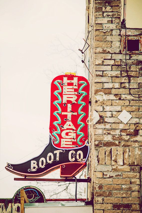 austin texas photography vintage neon sign photo by DreameryPhoto
