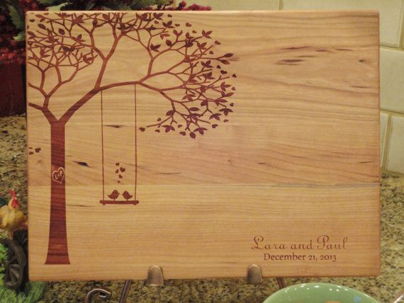 Personalized Cutting Board, Custom Cutting Board, Lasered Engraved, Wedding Present, Anniversary Gift, Bridal Shower Gift, Christmas Present...