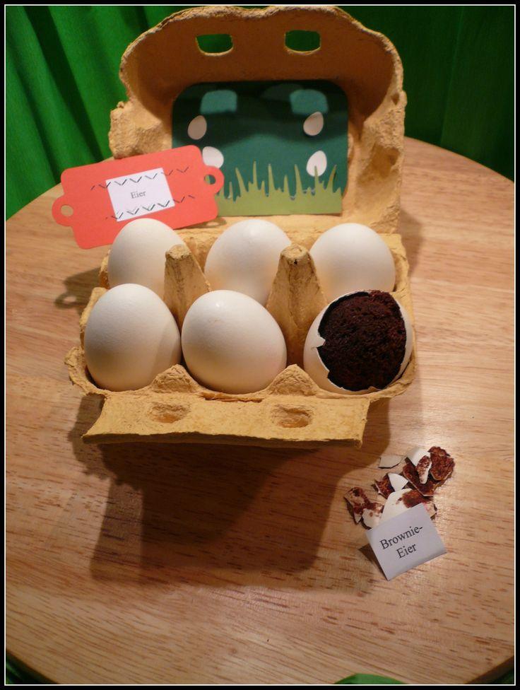 Brownies im Ei - tolle Idee - endlich mal ein deutsches Rezept!