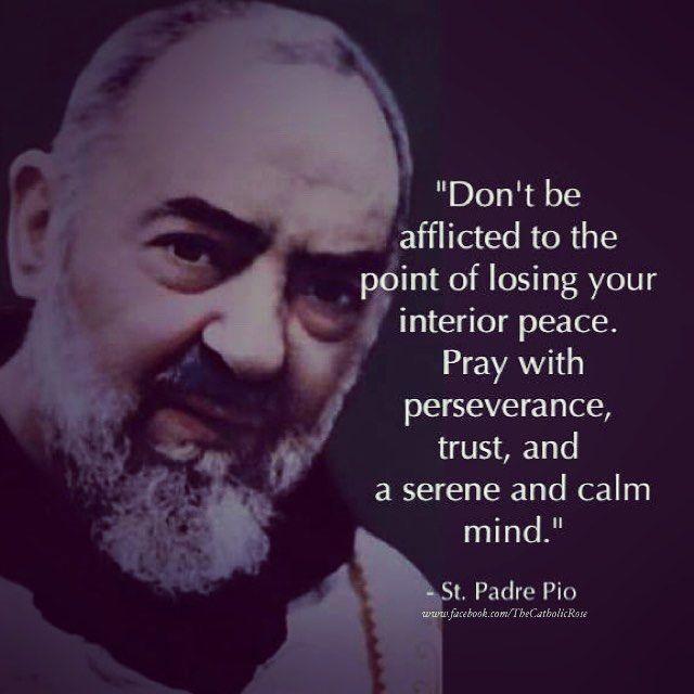 ... Padre Pio on Pinterest | Padre pio novena, Padre pio prayers and