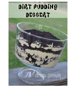 Dirt Pudding Dessert Put in a clean flower pot and add some fake flowers!