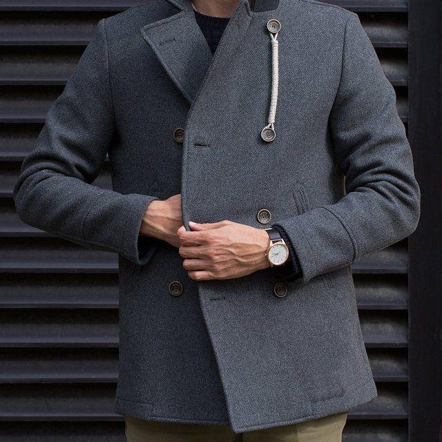 Fancy - Grey Wool Peacoat by Camplin