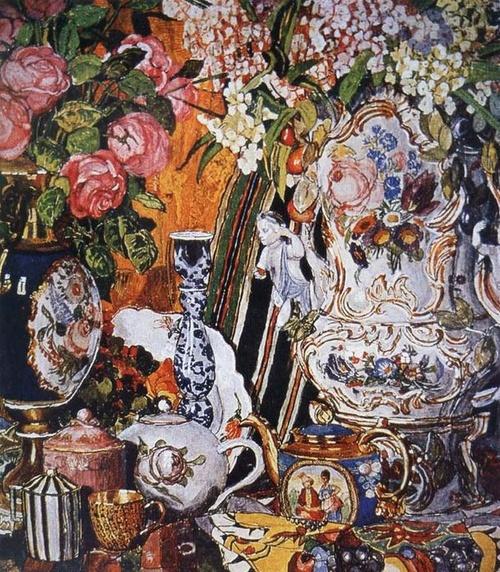 alexander golovin, 'china and flower', 1915