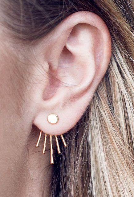 Twisted earrings by Scandinavian designer Sparv Accessories - Nordic Design Collective