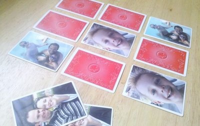 Fun idea for making a DIY memory game with family photos from @Michelle Sybert!