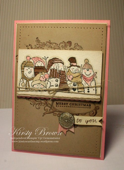 by Kirsty Brown, Kirsty's Cards n' Scrapping: Holiday, Christmas Cards, Cards Christmas, Cardmaking, Stampin, Ffc3, Brown, Card Ideas, Card Making