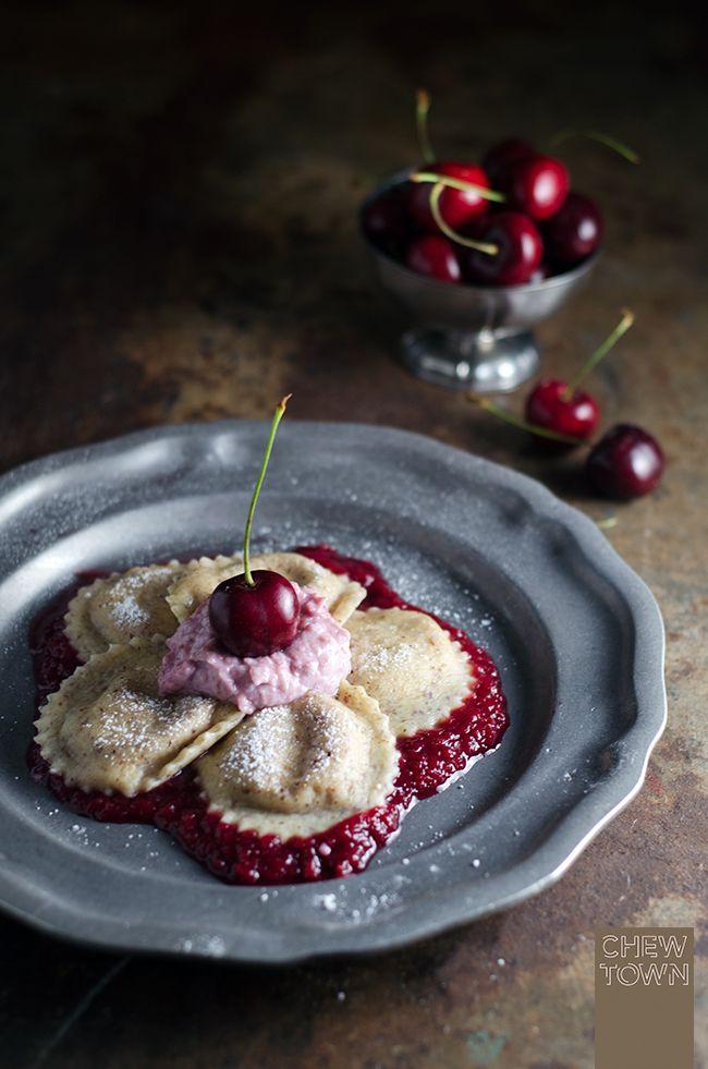 Ricotta and Cherry Ravioli with Hazelnut Pasta | Chew Town Food Blog