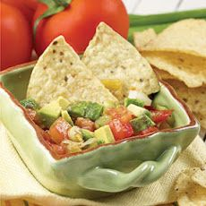 Chunky Tomato-Avocado Salad Recipe: Organic Chips (one portion!) Only