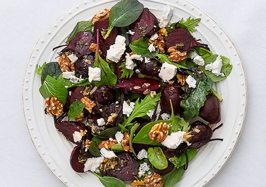 Roasted Beetroot Salad with Feta and Walnuts