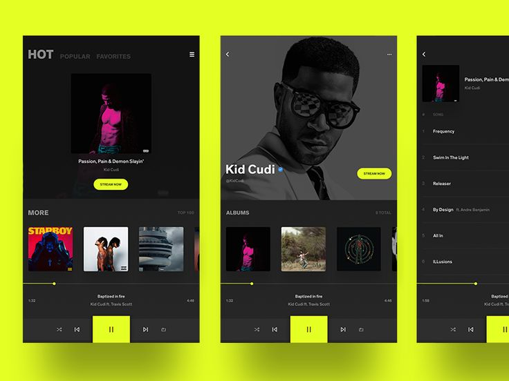 App UI - Media Player by Andrew ch