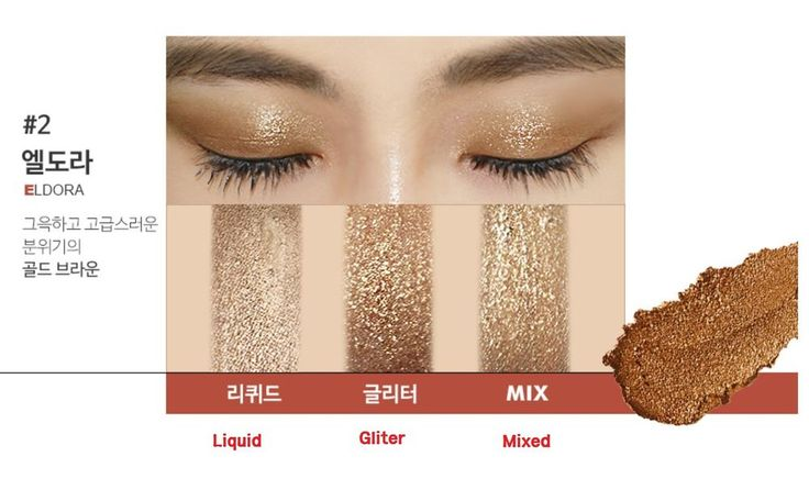 METALLIST Eye Liquid Foil Glitter Shadow Duo ELDORA Color K-Beauty 1pcs