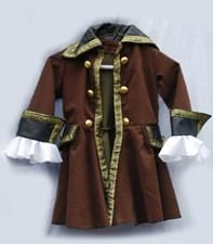 Boys Pirate Costume  Pirate Jacket  Authentic Pirate wear  Jack Sparrow Jacket