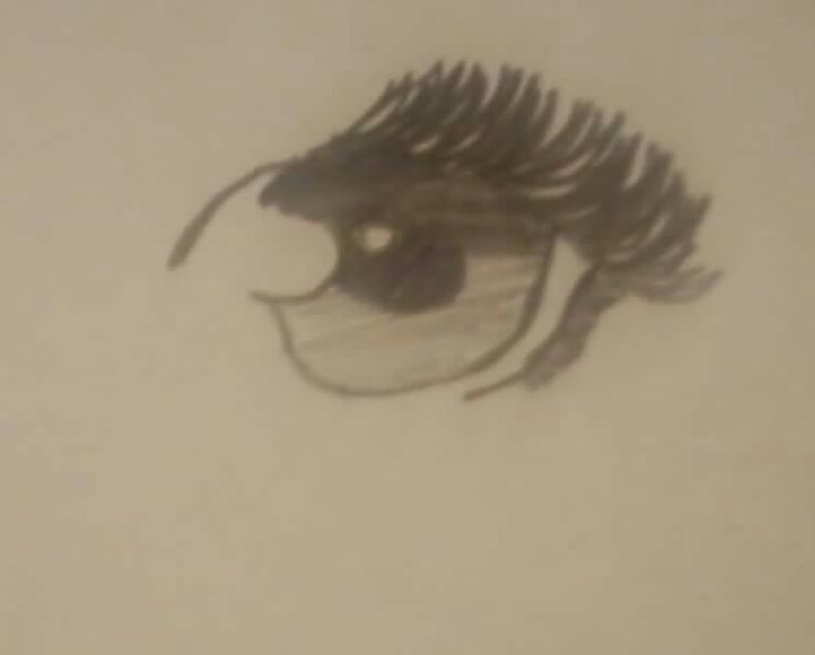 My drawing of an anime eye.