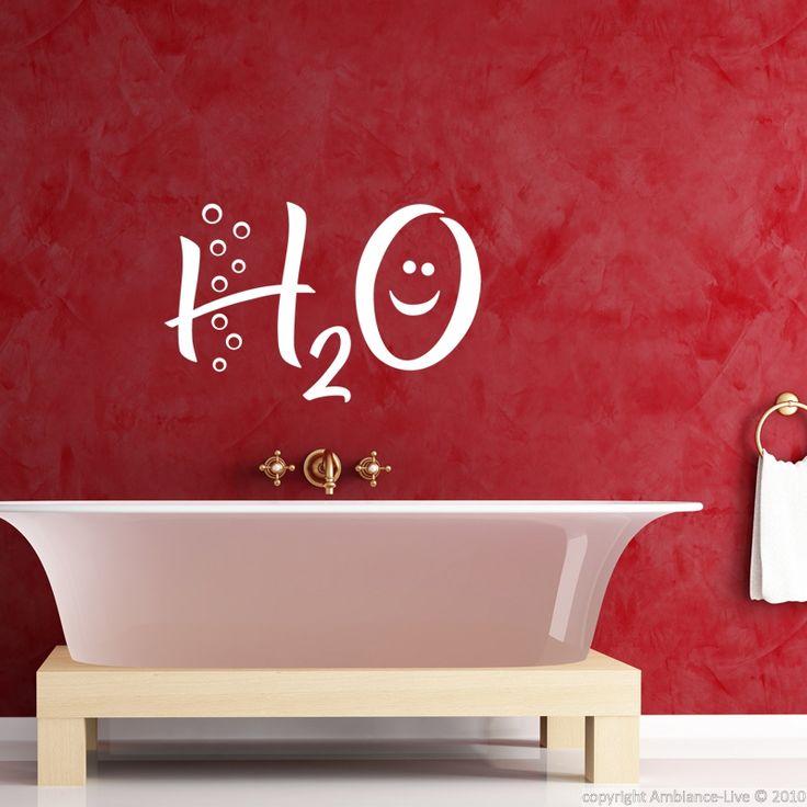 Stickers muraux pour salle de bain - Sticker mural H2O   Ambiance-sticker.com