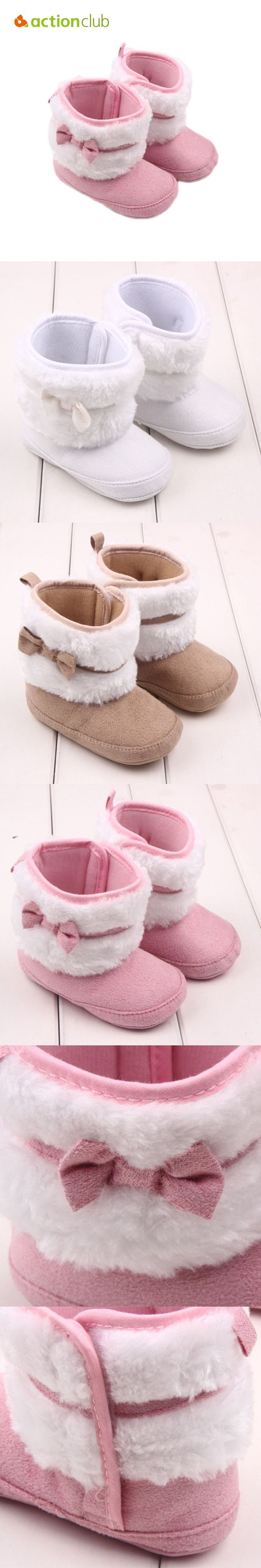 Baby Shoes Soft Baby Boots First Walker Winter Newborn Infant Girls Shoes Warm Kids Boots Soft Sole Boots Kids Footwear $10.19