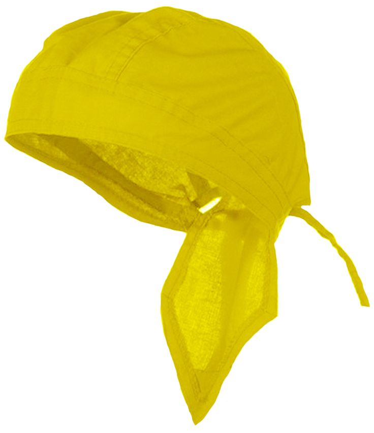 Yellow Solid Doo Rag Headwrap Durag Amarillo Skull Cap Cotton Sporty Motorcycle Hat