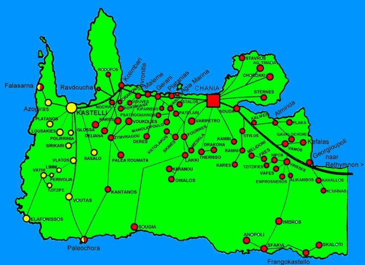 Bus connections west-Crete