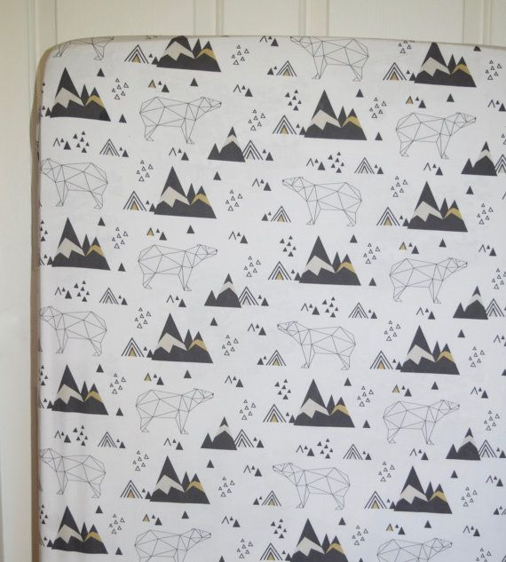 Polar Bear Crib Sheet Polar Bears and Icebergs by RykieBs on Etsy