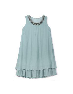 mint lace layered dress