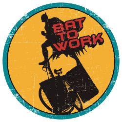 Batman bersepeda pergi bekerja, beraksi dengan riang gumbira :) #Kaos #Desain #Baju #Design #TShirt #Tees #Rupawa #Parody #SuperHero #Batman #Vintage