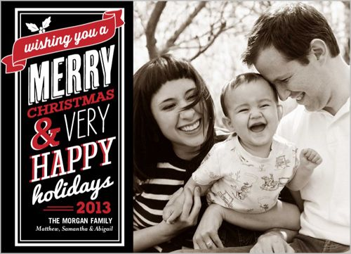 Banner Blessings Holiday Card   Shutterfly.com