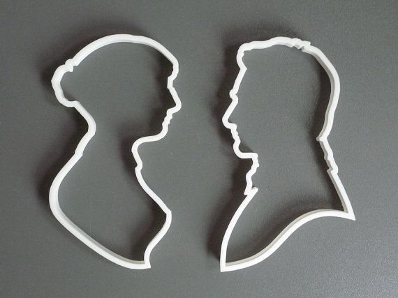 Ooh la la! Time for tea!  Pride and Prejudice cookie cutter set  3D printed by Printmeneer, €11.50