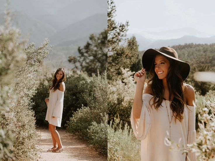 teenage girl fashion, girl smiling on mountain side, Garden of the Gods Senior Pictures in Colorado