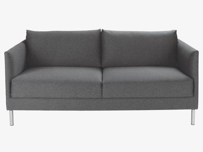 HYDE GREYS Fabric Charcoal fabric 2 seater sofa - HabitatUK
